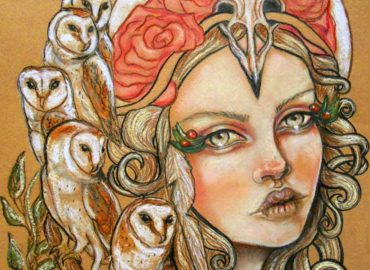 """""""All Hallows Eve,"""" By: Tammy Mae Moon of Moon Spiral Art"""